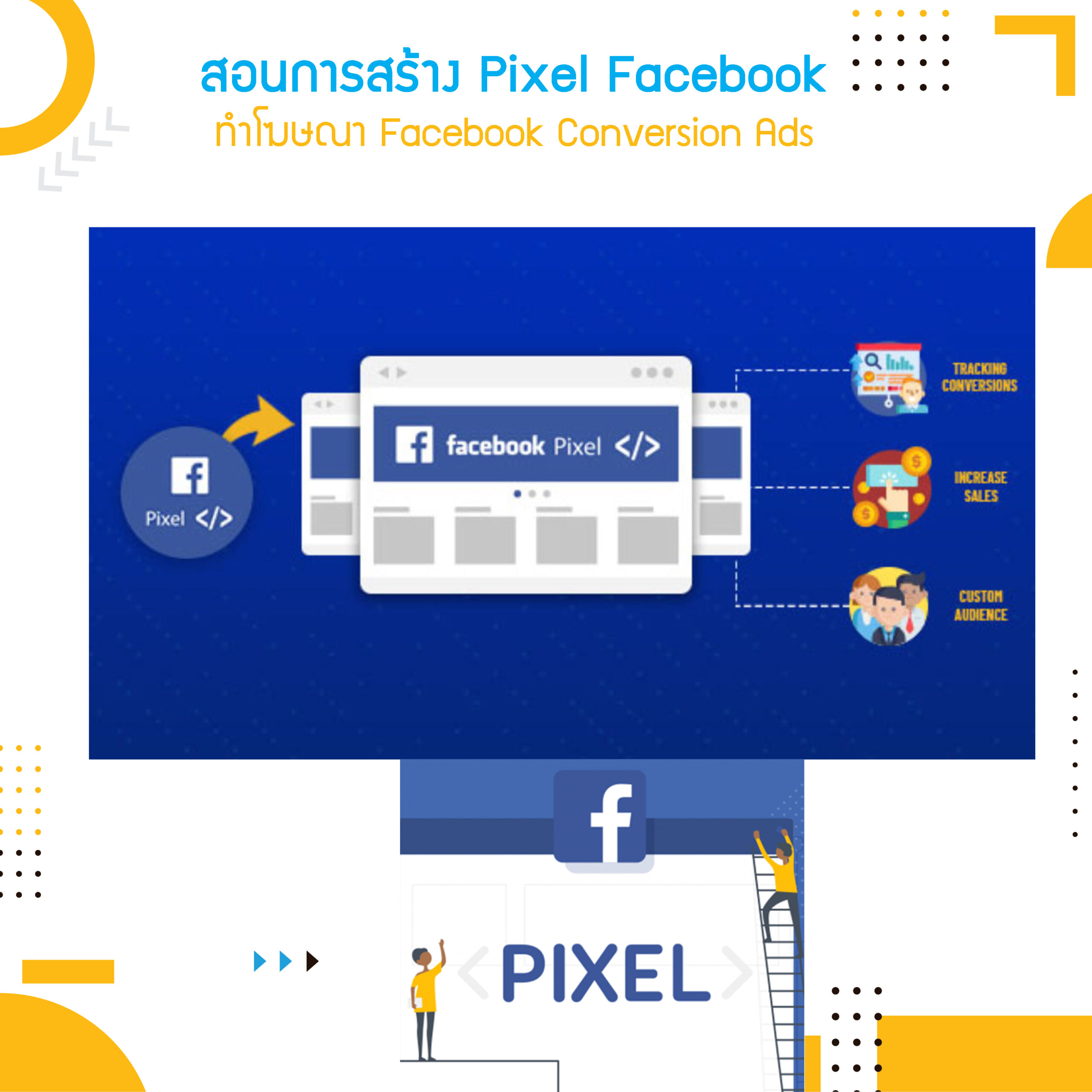 สอนการสร้าง Pixel Facebook